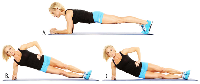 The Rolling Plank to belly fat
