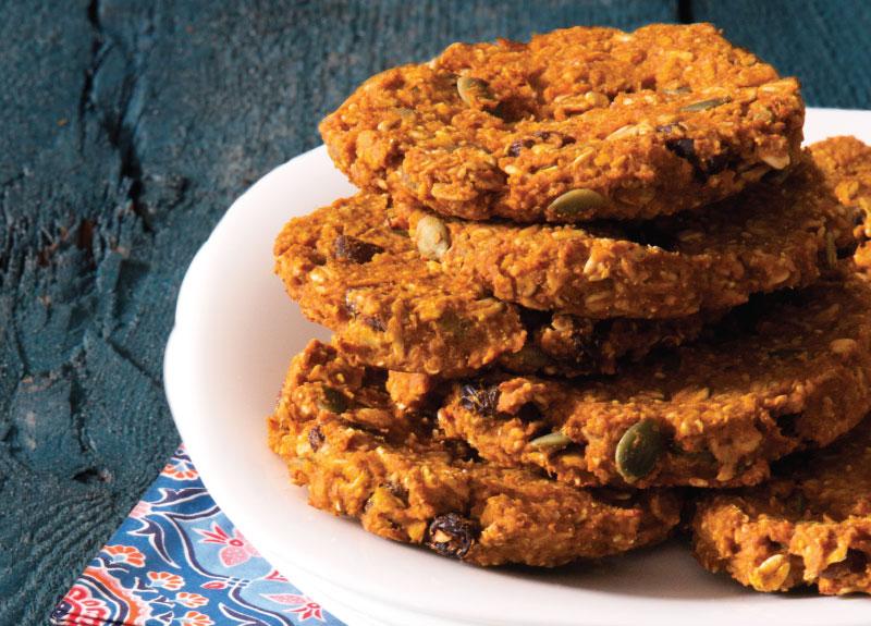 Pumpkin Pie Breakfast Cookies