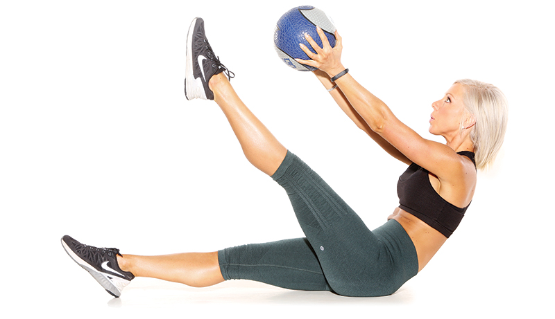 Single Leg V Ups...V Ups Exercise