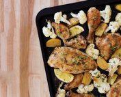 Deconstructed Roast Chicken with Cauliflower & Golden Beets