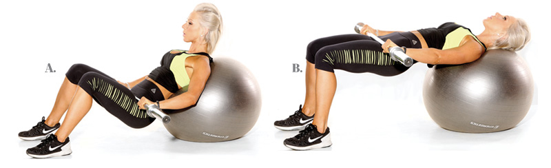 Watch Stability Ball Exercise: Leg Lifts video
