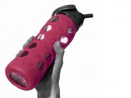 Pink Waterbottle in Women's Hand
