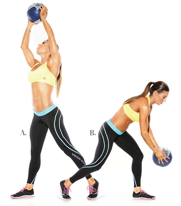 Medicine Ball Diagonal Chop