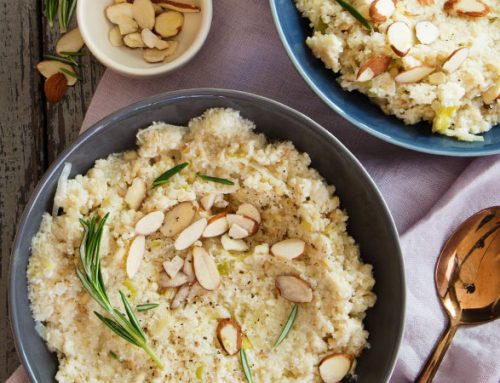 "Barley, Cauliflower & Almond ""Risotto"""