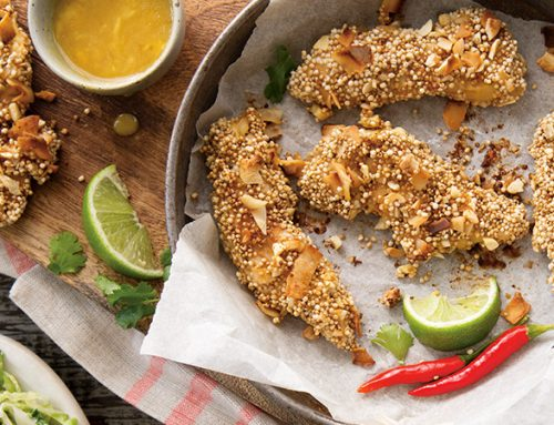 Quinoa & Coconut Crusted Chicken Fingers