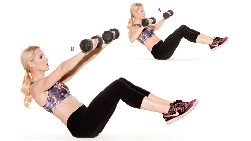 V Sits Exercise The 20-Minute Abs &...