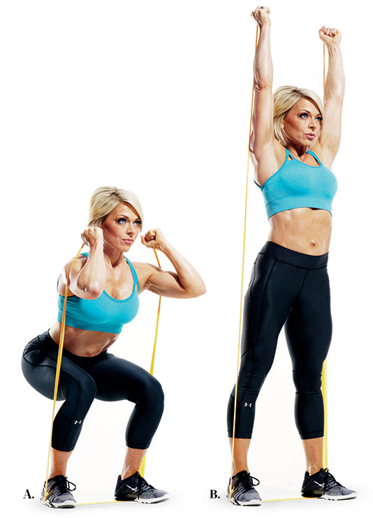 Accessories to Help Perfect Your Squats - Using resistance bands while squatting