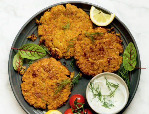 Spaghetti Squash Fritters With Yogurt Dipping Sauce