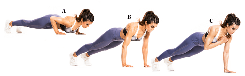 Push-Up with Shoulder Tap